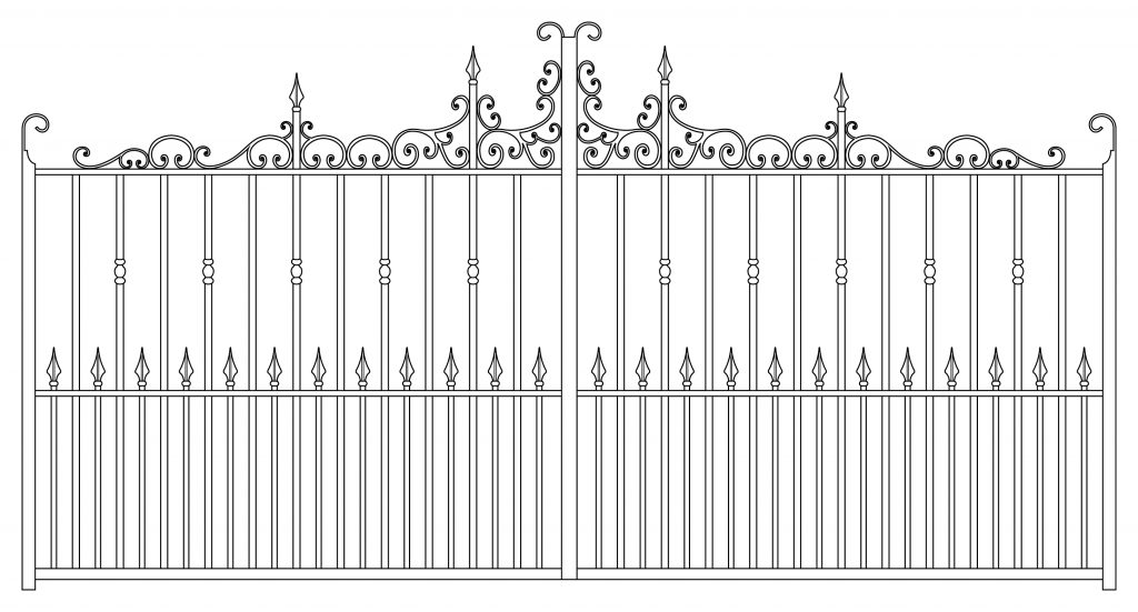 Gate 4 Scroll Thicker - TPS Electric Gates
