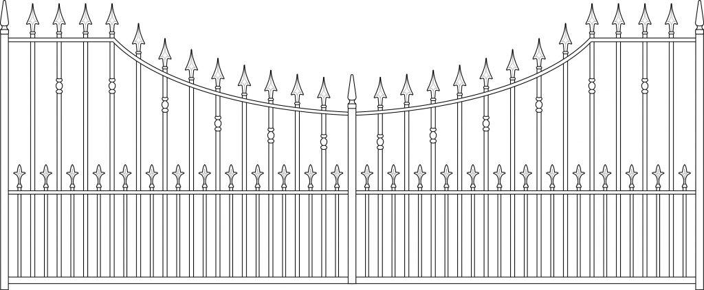 Gate 5 Wye Arched 2 - TPS Electric Gates