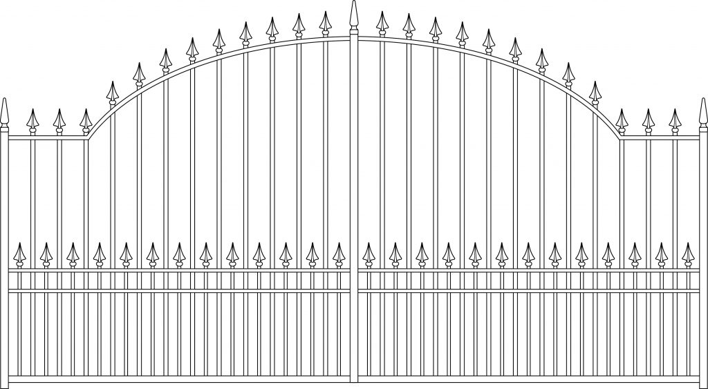 gate 6 Arched - TPS Electric Gates