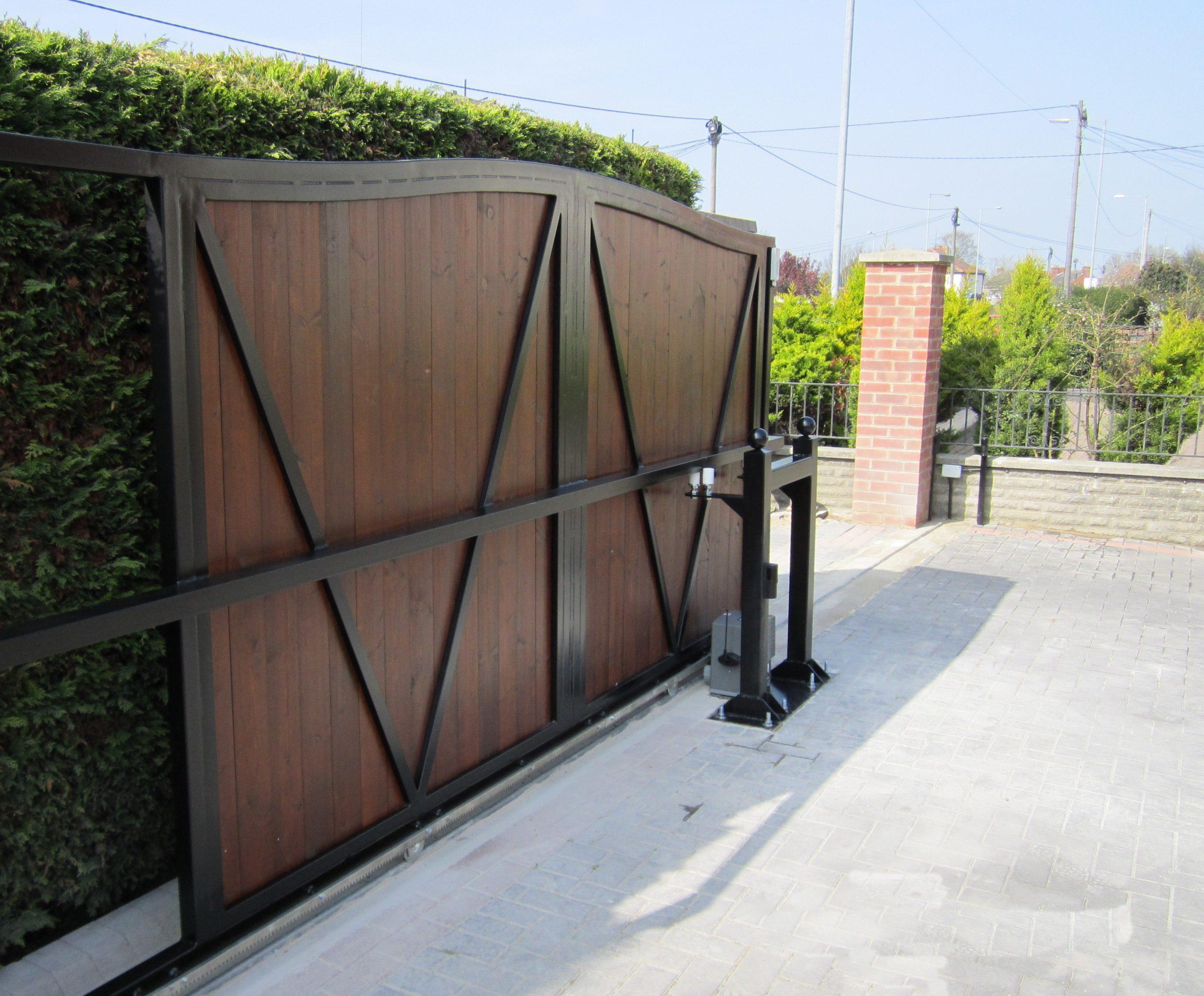 Steel Framed Gates 01 - TPS Electric Gates