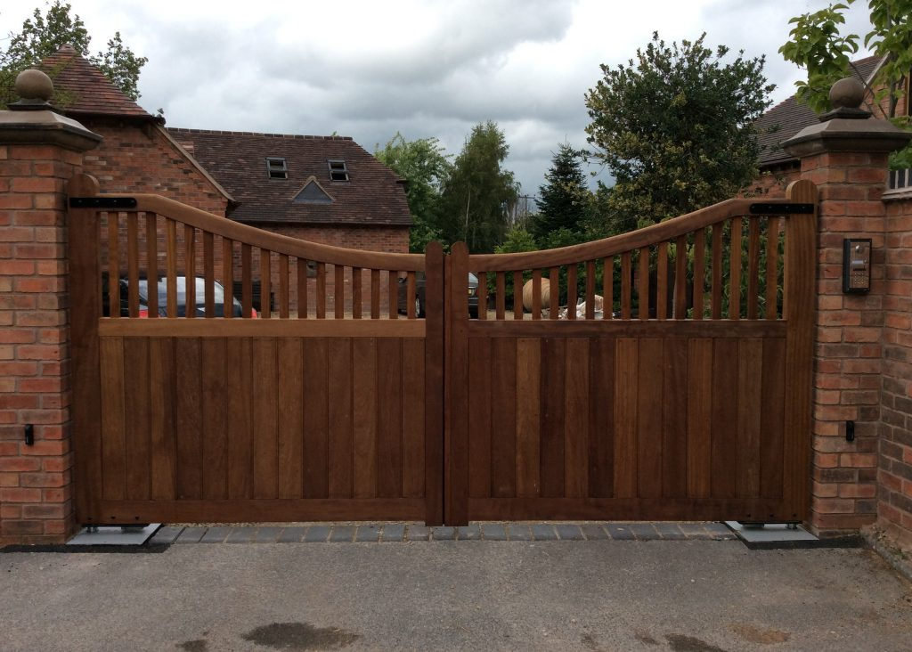 Beautiful wooden gates collection tps electric