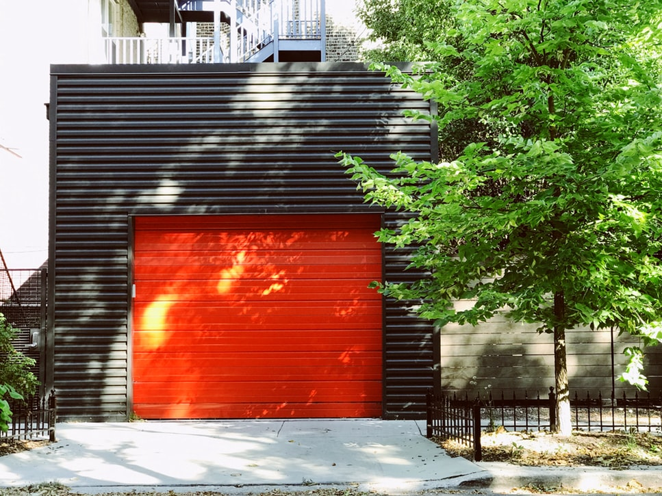 Red automatic gate